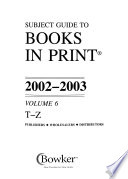 Subject Guide to Books in Print  : An Index to the Publishers' Trade List Annual , Volume 6