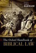 The Oxford Handbook of Biblical Law Pdf/ePub eBook