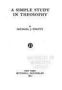 A Simple Study in Theosophy