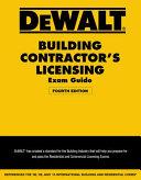 Dewalt Building Contractors Licensing Exam Guide