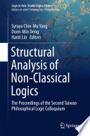 Structural Analysis of Non Classical Logics Book