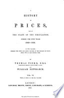 A History of Prices and of the State of Circulation