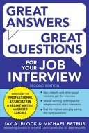 Great Answers, Great Questions For Your Job Interview, 2nd Edition Pdf/ePub eBook