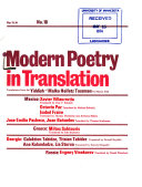 Modern Poetry in Translation