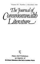 The Journal of Commonwealth Literature