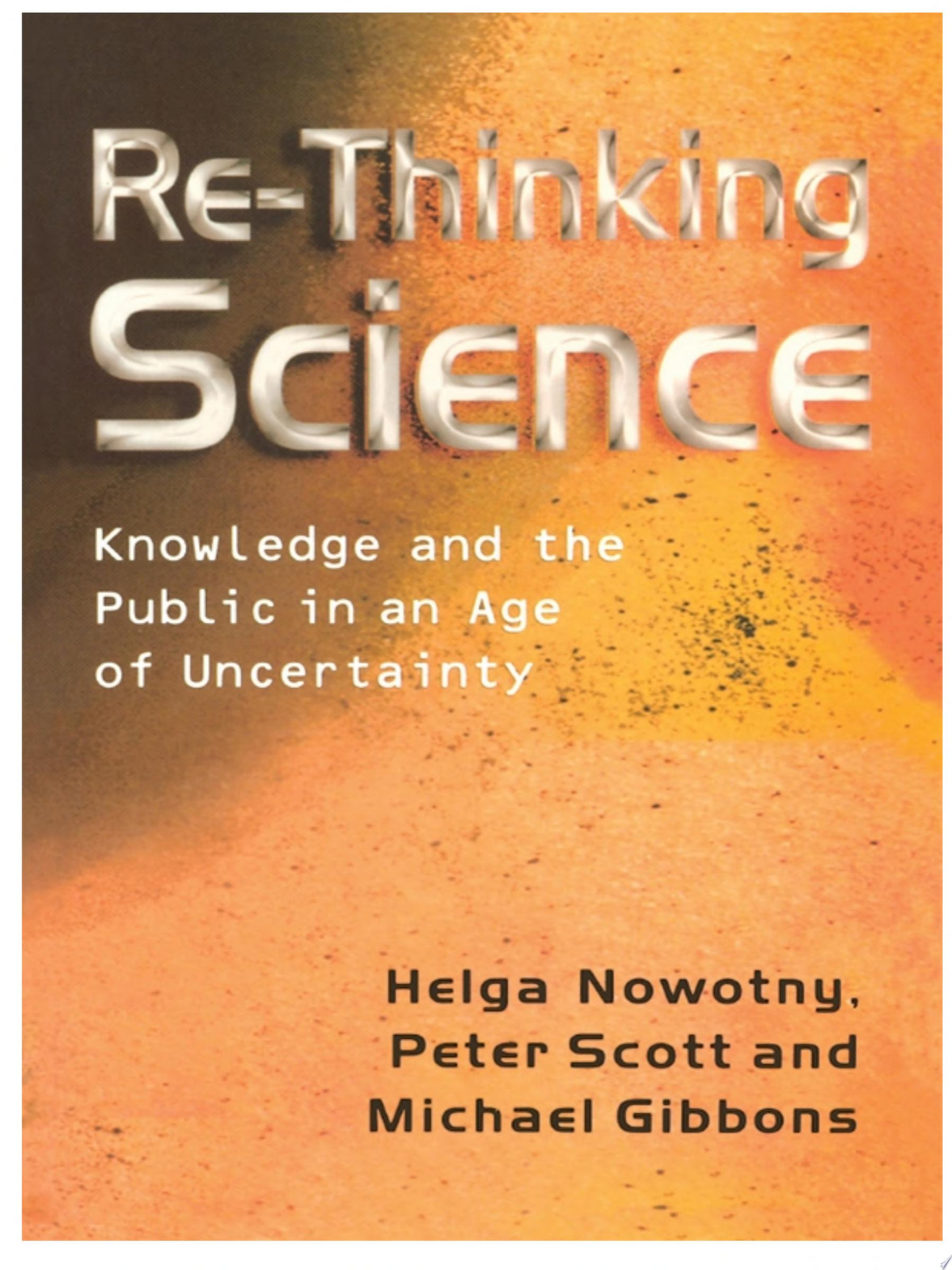Re Thinking Science