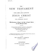 The New Testament Of Our Lord And Saviour Jesus Christ Pdf/ePub eBook