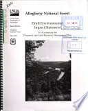 Allegheny National Forest (N.F.), Proposed Land and Resource Management Plan