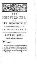 Les helviennes ou Lettres provinciales philosophiques ... ; tome second