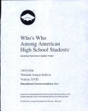 Who s Who Among American High School Students  1995 96