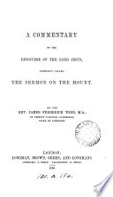 A Commentary On The Discourse Of Jesus Commonly Called The Sermon On The Mount