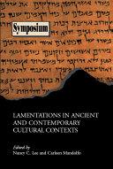 Lamentations in Ancient and Contemporary Cultural Contexts [Pdf/ePub] eBook