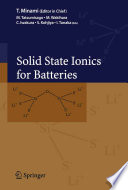 Solid State Ionics for Batteries Book