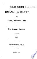 Triennial Catalogue Of Alumni Honorary Alumni And Non Graduate Students