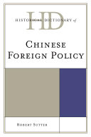 Historical Dictionary of Chinese Foreign Policy Pdf/ePub eBook