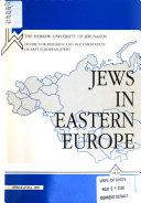 Pdf Jews in Eastern Europe