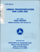 Urban transportation and land use