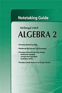 Algebra 2  Grades 9 12 Notetaking Guide Book
