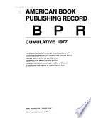 'American Book Publishing Record' Cumulative