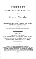 Pdf Cobbett's Complete Collection of State Trials and Proceedings for High Treason and Other Crimes and Misdemeanors from the Earliest Period to the Present Time