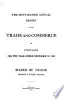 Annual Report of the Trade and Commerce of Chicago for the Year Ended December 31     Book PDF