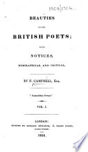Beauties Of The British Poets With Notices Biographical And Critical By F Campbell