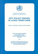 Key Policy Issues in Long-term Care