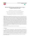 Blockchain Risk Evaluation on Enterprise Systems using an Intelligent MCDM based model