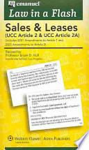 Sales UCC Article 2  : (Ucc Article 2 & Ucc Article 2a)