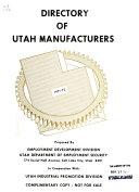 Directory of Utah Manufacturers