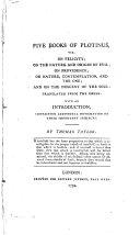 Five Books of Plotinus