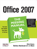 Office 2007: The Missing Manual Pdf/ePub eBook