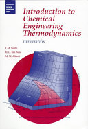 Introduction to Chemical Engineering Thermodynamics Book
