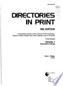 Directories in Print: Descriptive listings