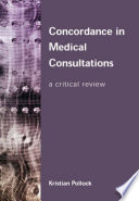 Concordance in Medical Consultations Book