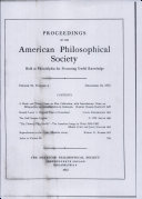Pdf Proceedings, American Philosophical Society (vol. 96, no. 6) Telecharger