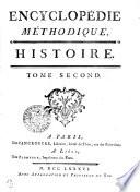 Encyclopédie méthodique. Histoire