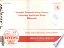 Integrated Community Energy Systems Engineering Analysis and Design Bibliography