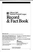 2005 NFL Record   Fact Book