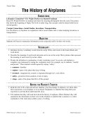 The History of Airplanes Reader s Theater Script and Lesson