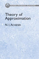 Theory of Approximation