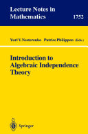 Introduction to Algebraic Independence Theory