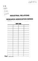 Proceedings Of The Annual Meeting Industrial Relations Research Association Book PDF