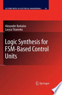 Logic Synthesis for FSM Based Control Units