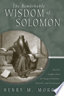 The Remarkable Wisdom of Solomon Book