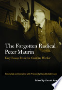 The Forgotten Radical Peter Maurin