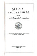 Official Proceedings Of The Annual Convention Of American Federation Of Musicians