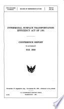 Intermodal Surface Transportation Efficiency Act of 1991