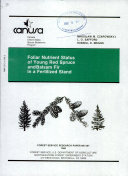 Foliar nutrient status of young red spruce and balsam fir in a fertilized stand