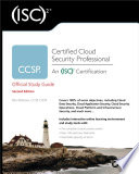 ISC 2 CCSP Certified Cloud Security Professional Official Study Guide